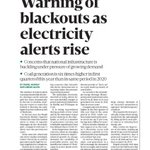 Image for the Tweet beginning: The @sundaybusiness reported a 'Warning
