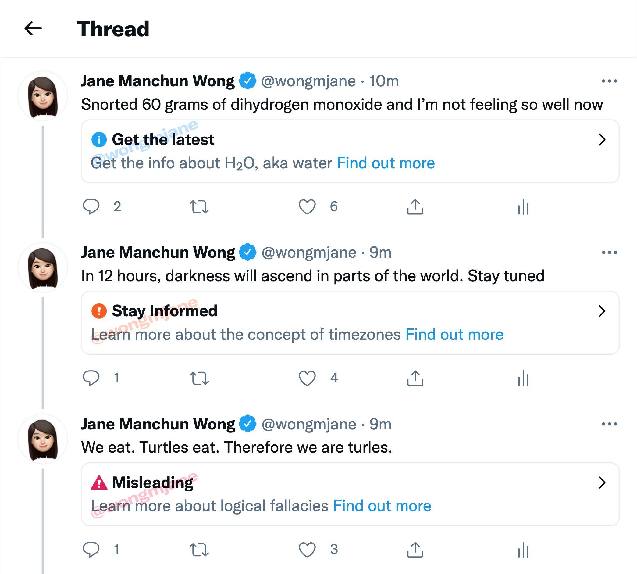 Twitter está desarrollando etiquetas de advertencia de desinformación
