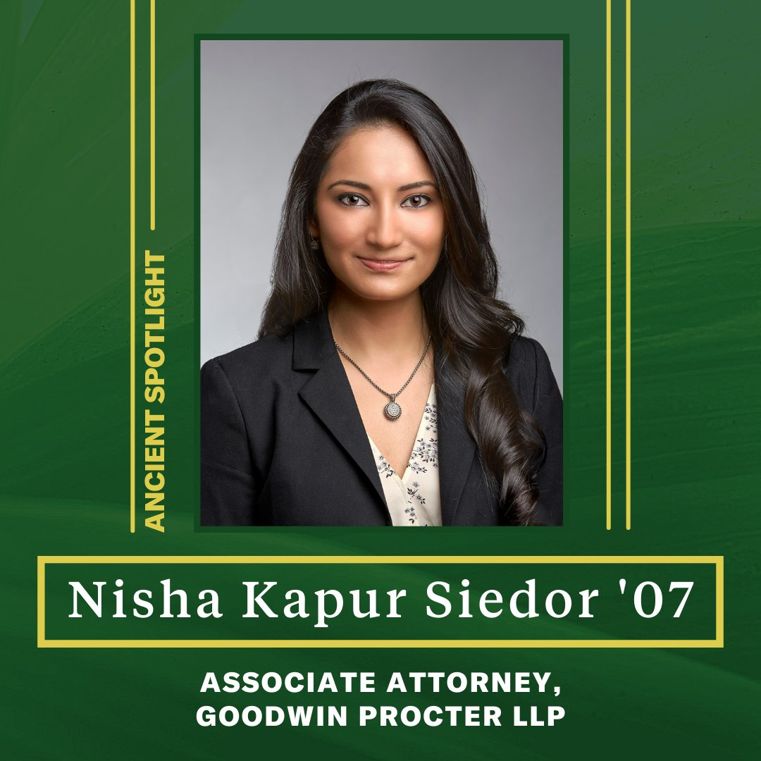 Nisha Kapur Siedor '07 is a first-generation daughter of immigrants from India and is currently an attorney specializing in counseling start-up and emerging growth companies.  #MissPortersSchool #AAPIHeritageMonth2021 #AAPIHeritageMonth https://t.co/p4BGOilONK