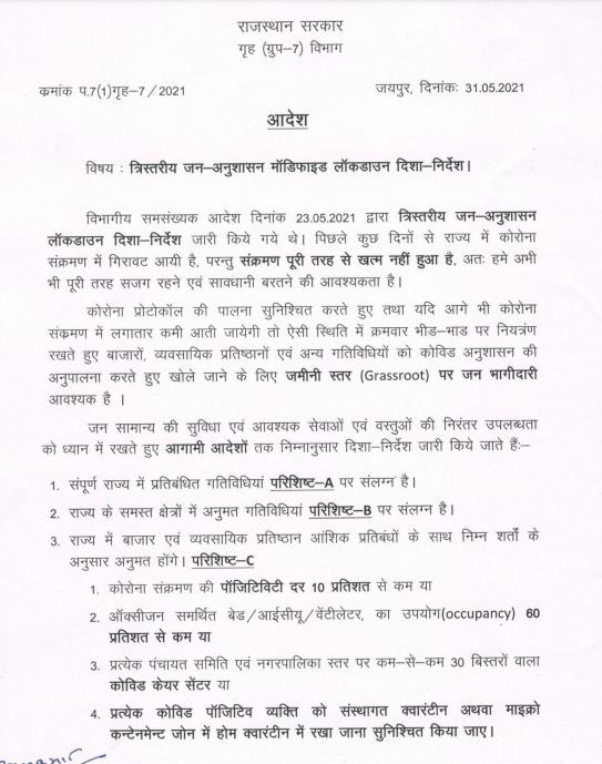 Image  राजस्थान सरकार ने जारी की अनलाॅक की नई गाईडलाइन E2uZiBCVoAAZHvX format png name 900x900