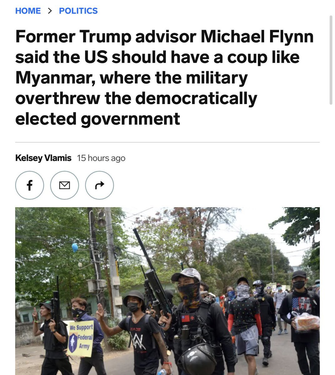 Former NSA #MichaelFlynn fully endorsed a coup this weekend to reinstall #Trump.   How does the @GOP honor the fallen heroes who made the ultimate sacrifice? By actively working to destroy the democracy they died to protect. #MemorialDay2021 https://t.co/DuofJLSzxX