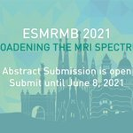 Image for the Tweet beginning: 📢Abstract submission for ESMRMB 2021