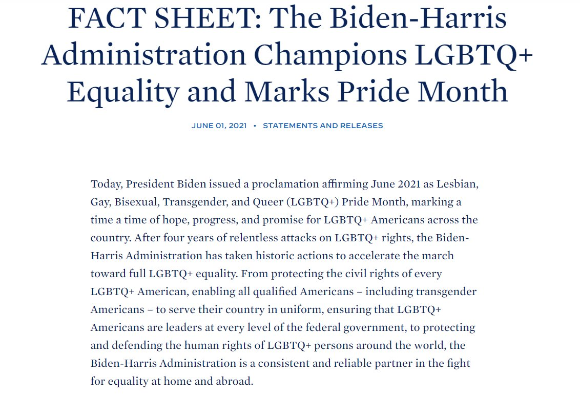 Too many #LGBTQ+ Americans face discrimination everyday.  We're proud to have a President who is committed to protecting the rights of every community under the rainbow, and are hopeful to see the passing of the #EqualityAct.  #AAPIMovement #Pride2021 https://t.co/OOCqrKZ2yB