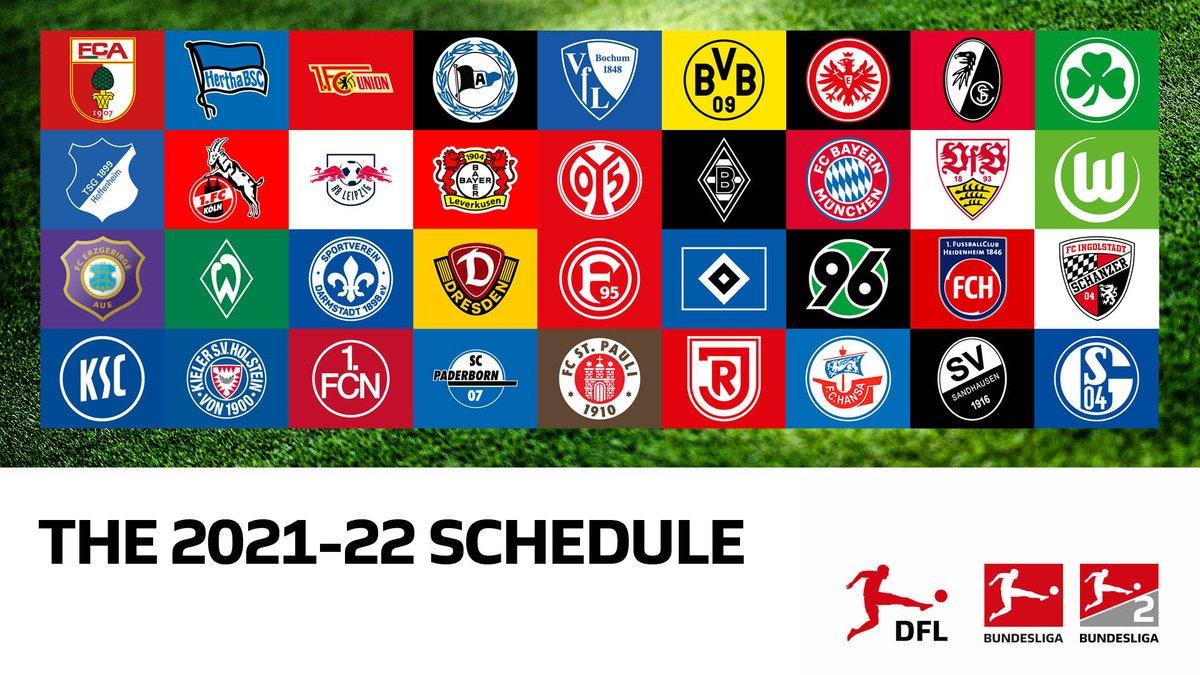Dfl Deutsche Fussball Liga S Tweet The Fixtures Of The 2021 22 Bundesliga And Bundesliga 2 Seasons Will Be Announced On June 25 Trendsmap