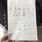 番号を選んで人物のイラストを作る懐かしい遊び!令和の子もやっていたw