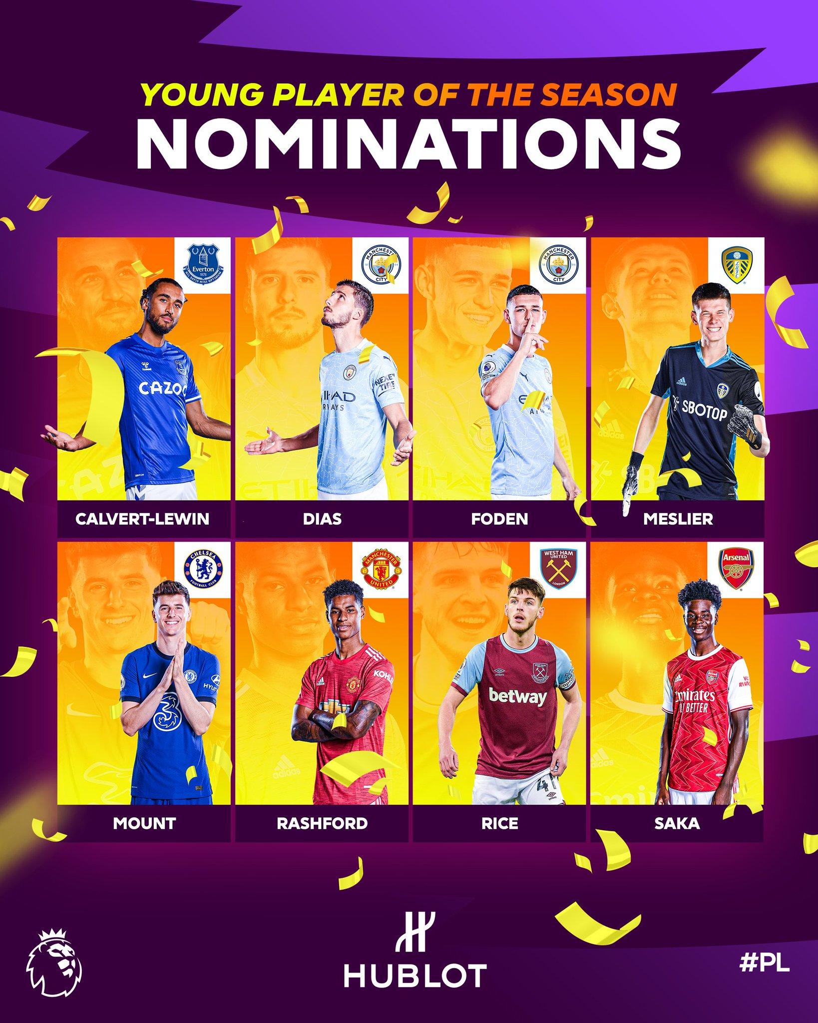 Bukayo Saka nominated for Young Player of the Season Award