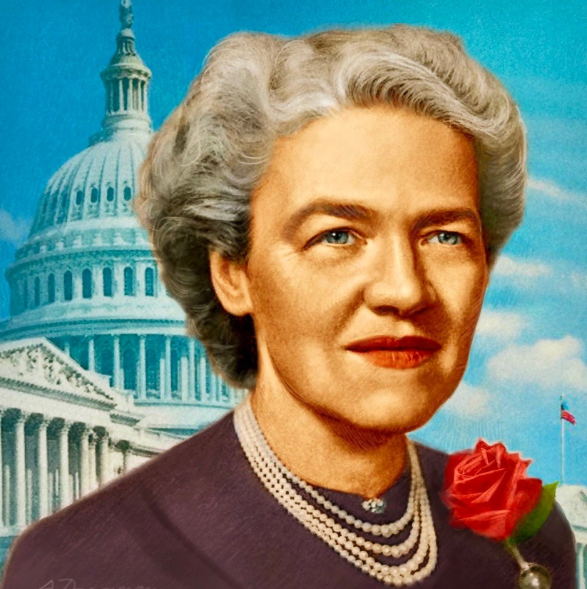 """Against rise of Joseph McCarthy, Senator Margaret Chase Smith, Republican of Maine and the only woman in the U.S. Senate, said today 1950,  """"I do not want to see the Republican Party ride to political victory on the Four Horsemen of Calumny—Fear, Ignorance, Bigotry and Smear."""" https://t.co/LDi1ofUWEE"""