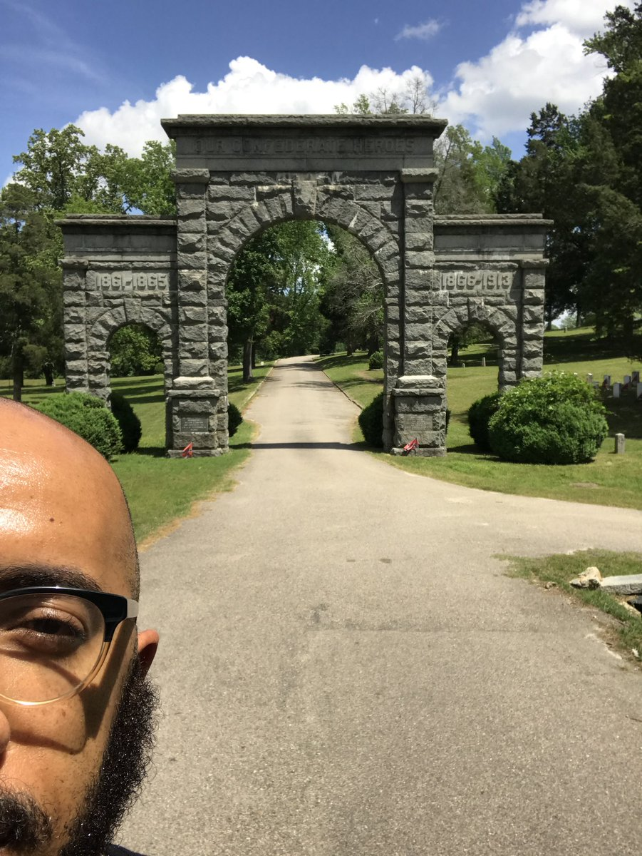 """I traveled to Blandford cemetery, one of the largest Confederate cemeteries in the country—where the remains of 30,000 Confederate soldiers are buried—and spent time with the Sons of Confederate Veterans. This is the entrance to the cemetery which reads """"OUR CONFEDERATE HEROES"""""""