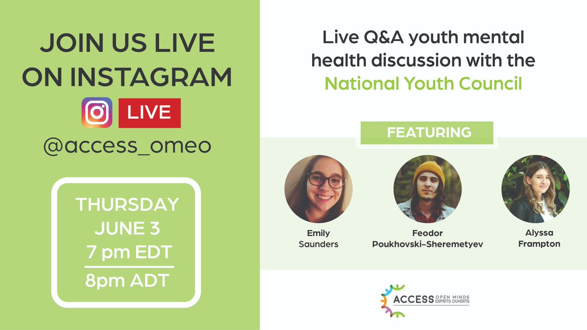 📢 Today's the day!!! Tune in to our instagram page (https://t.co/rrnBZPPMf9) to hear from our #youthcouncil about #youthmentalhealth during #COVID19 and beyond. You don't want to miss it! ⬇️⬇️⬇️