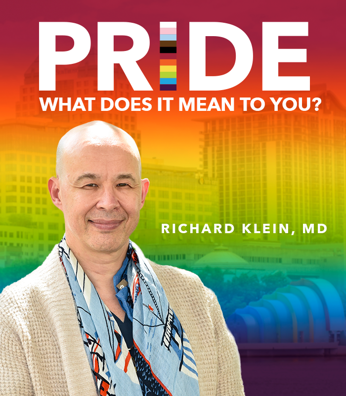 Today marks the first day of #PrideMonth. In honor of the occasion, we asked our LGBTQIA+ team members what it means to them. Read on to learn what Dr. Richard Klein, plastic surgeon and chief of the Orlando Health Aesthetic & Reconstructive Surgery Institute, had to share. https://t.co/z8ygaiYIgQ