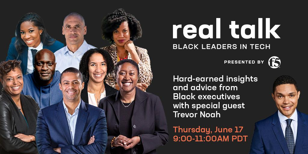 Register now to get the inside story on navigating the tech world as a Black professional. Join F5 CEO François Locoh-Donou, special guest Trevor Noah, and leading Black execs in tech as they share their real-world experiences. https://t.co/GgOOd8WbD5 #BeF5 #BlackTechTwitter https://t.co/mnX1ovJ4wE