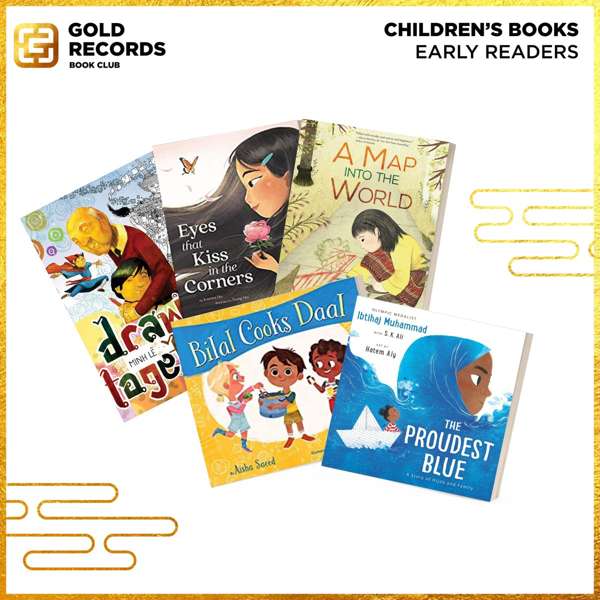 Announcing our EARLY READERS #GoldHouseBookClub list for Summer & Fall 2021!  Featuring @bottomshelfbks, @aishacs, @JoannaHoWrites, @IbtihajMuhammad, and @kaokaliayang Join our Facebook Group (https://t.co/FyuapnGva6) & stay tuned for programming! https://t.co/dgNN06ylLm