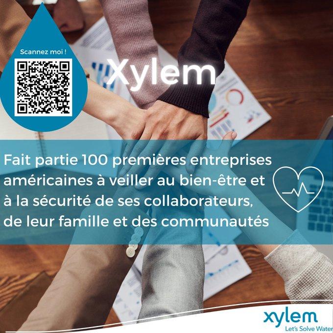 Les équipes #Xylem font partie des 100 premières entreprises américaines à veiller au bien-être et à la sécurité de ses collaborateurs, de leur famill...
