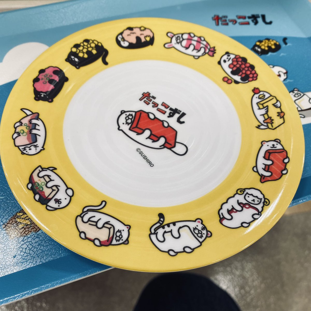 test ツイッターメディア - これ可愛い! 回転寿司のお皿の形してる! #セリア #だっこずし https://t.co/z19KoF8bSX