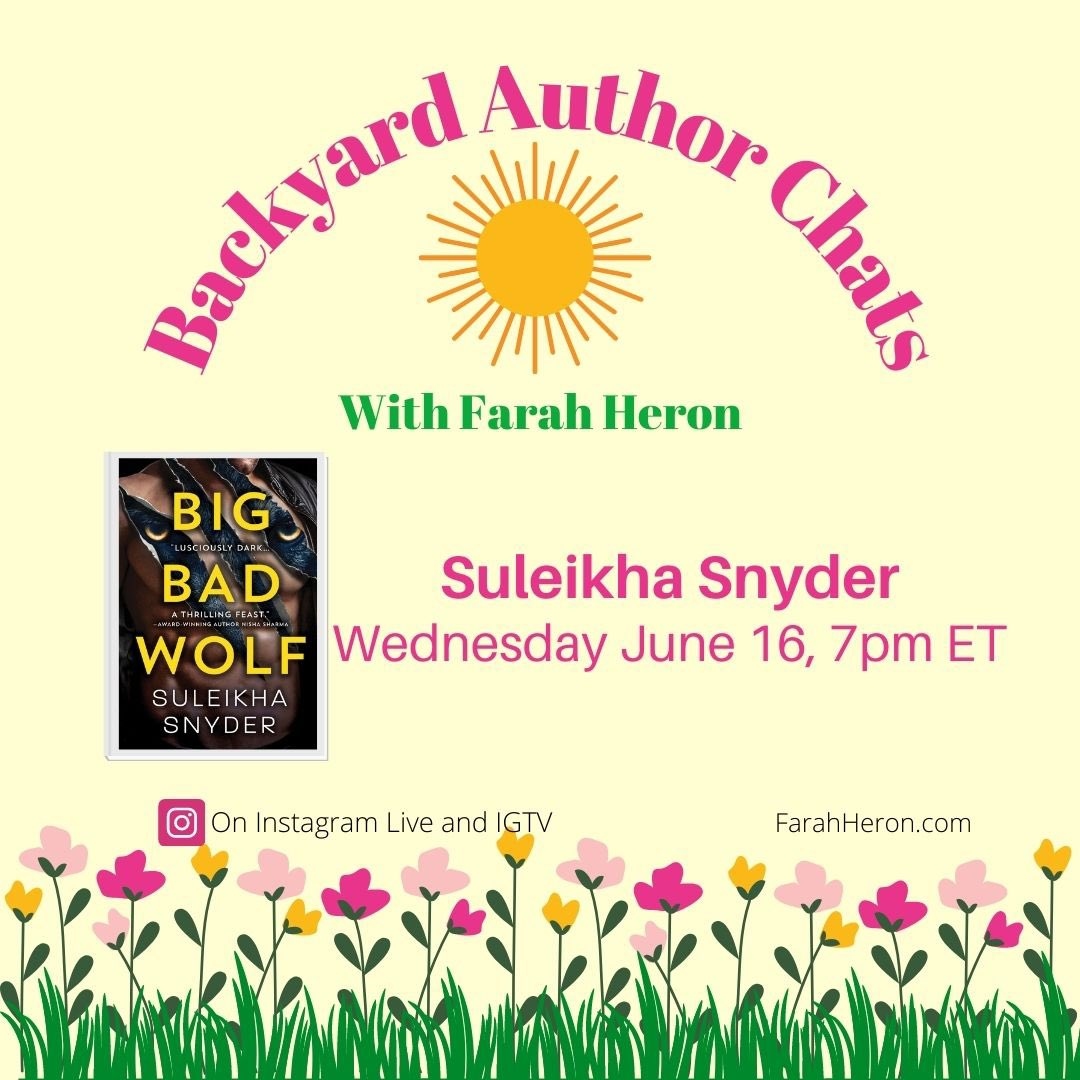 @FarahHeron is hosting me for a Backyard Author Chat tomorrow, June 16, on IG Live! 8 ET/7 CT! We'll be talking about our respective fascinations with whiskey and craft beer! And we'll probably—no, DEFINITELY—get off topic. 😂 https://t.co/ScwsIgb070