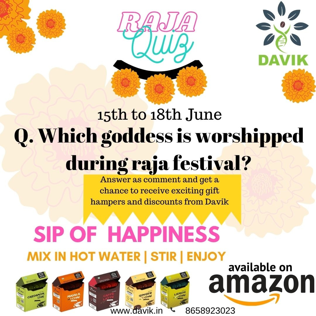 We hope you're having a wonderful Raja celebration. Let's make it more exciting! Answer the question as a comment and get a chance to win exciting gift hampers from Davik.  #contest #quiz #happyraja #davik #thedavikexperience #lovetea #instantpremixtea https://t.co/oVr6TctcTW