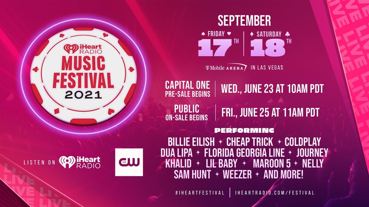 Can we just pls take a moment to take this all in‼️ The best weekend of the year is back and LIVE in person! ❤️  Hoping to see you all at the #iHeartFestival + #iHeartDayStage!   All info: https://t.co/4lzimzHcfk https://t.co/TnyvnE4yqg
