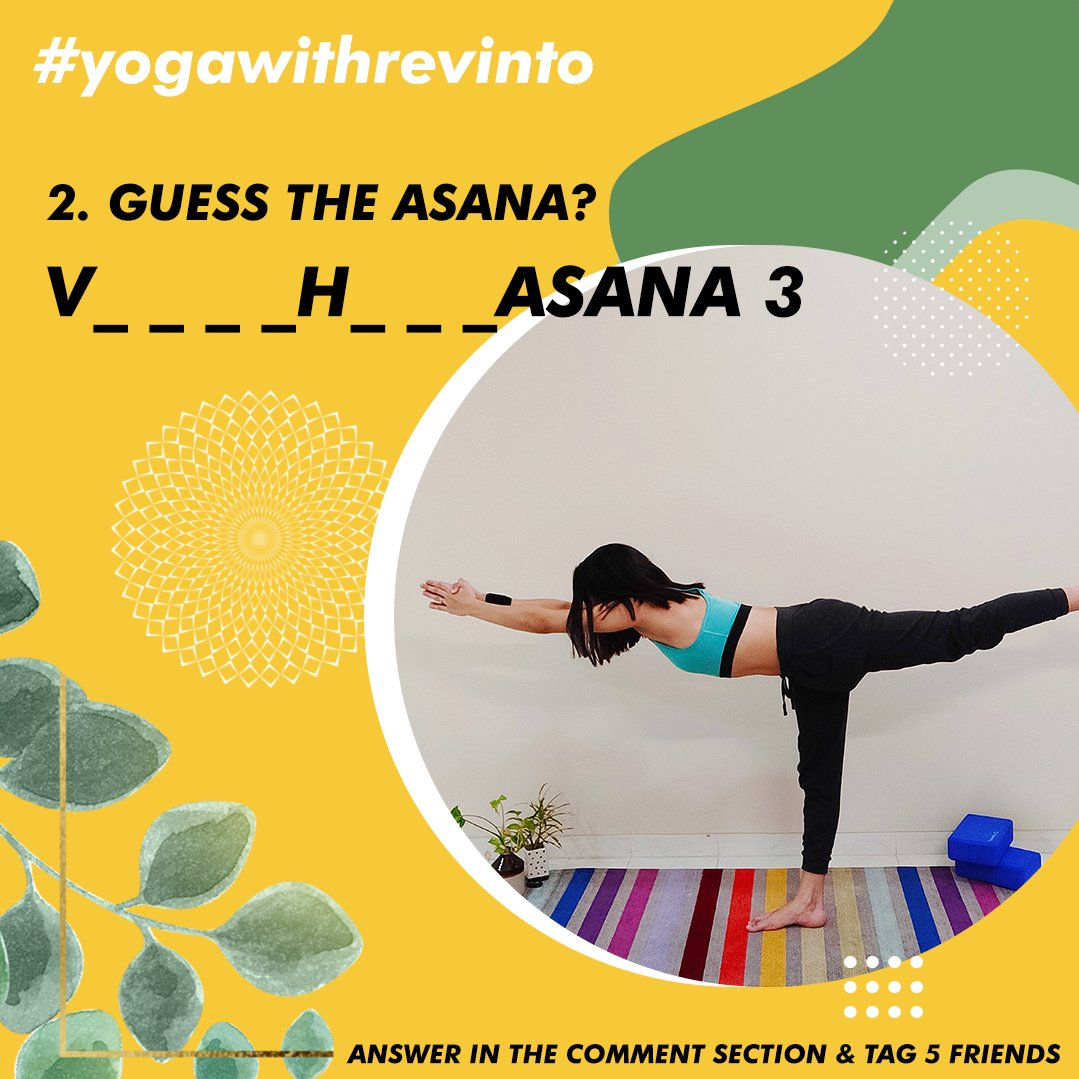 5. GUESS THE ASANA? Follow Us & Yoga With Malvika Answer in the comment section & tag 5 friends Winner picked Via LUCKY DRAW. #yogawithrevinto  #giveaways #revinto #winners  #skincareproducts #contest #promotion  #yoga #fitness #FitnessMotivation #mithunchakraborty #Suruli https://t.co/qBnlxkiV1u