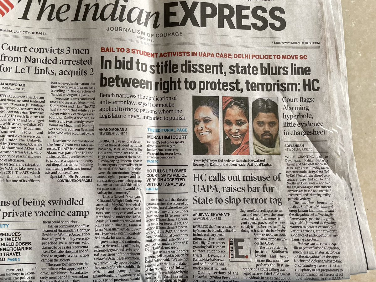 Front page of the Indian Express #dissent https://t.co/vDYykVskUL