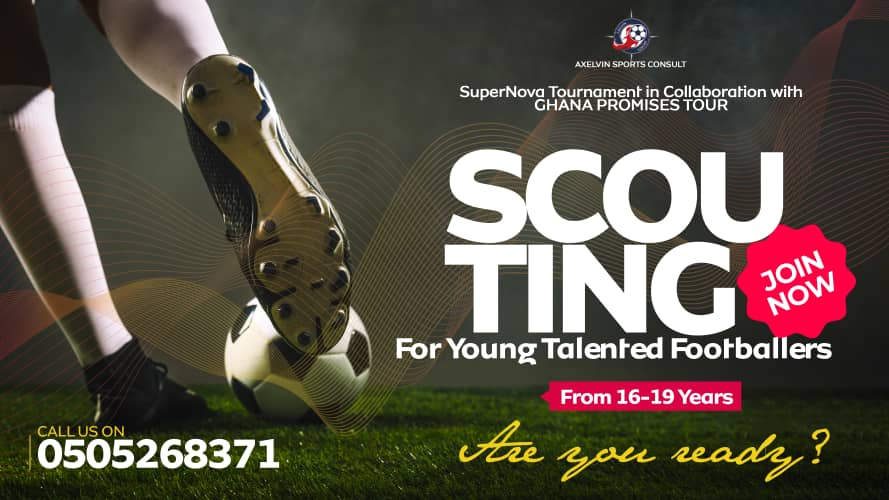 Are you a very talented footballer? Another opportunity is here again! AxelVin Sports in collaboration with Ghana Promises Tour presents SuperNova Tournament 2021 on 26th June 2021.  Agents from the UK, US and Italy are coming to scout. Call or WhatsApp 0505268371 to register! https://t.co/caETusxr3Y