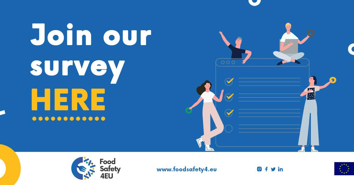 🇪🇺Help us to contribute to improve the #FoodSafety system in Europe ✍️Fill the survey: https://t.co/R7yU0M6119