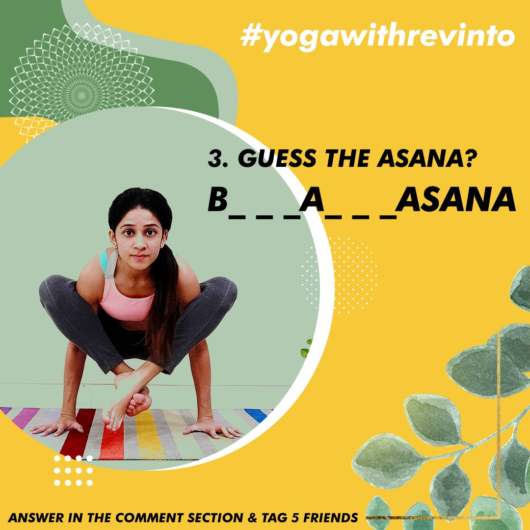3. GUESS THE ASANA? Follow Us & Yoga With Malvika on Instagram. Answer in the comment section & tag 5 friends  Winner picked Via LUCKY DRAW. #yogawithrevinto  #giveaways #revinto #winners  #skincareproducts #contest #promotion  #yoga #fitness #fitnessmotivation https://t.co/HSzmG1GMUq