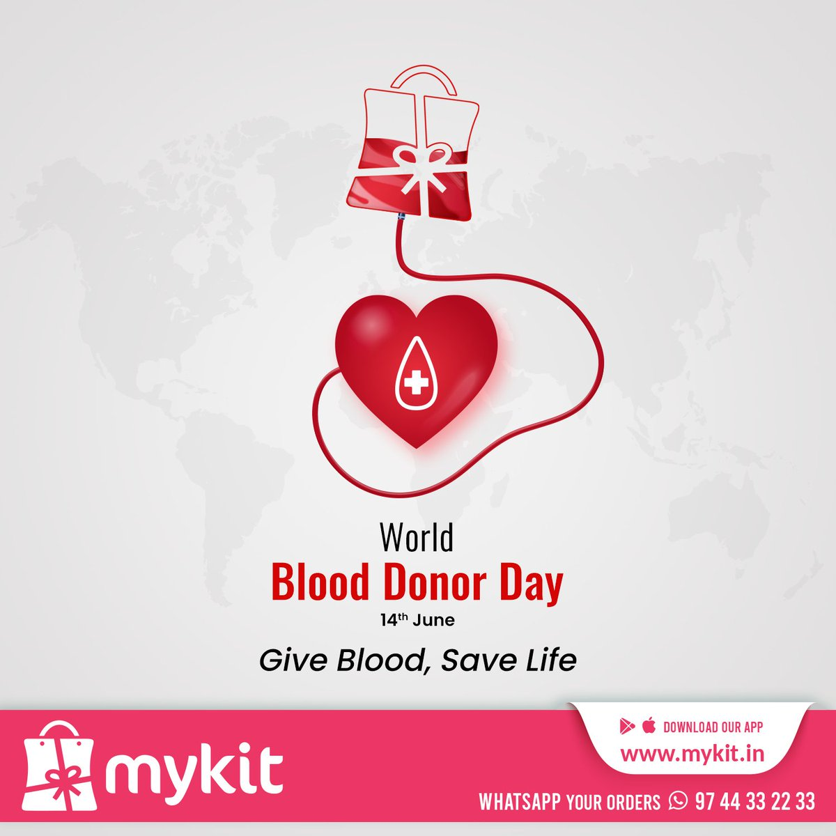 Give Blood, Save Life World Blood Donor Day  #mykitcart #mykit  #worldblooddonorday #blooddonor #blooddonation #brandyourhome #kannur #kerala https://t.co/7jZzug1p9Y