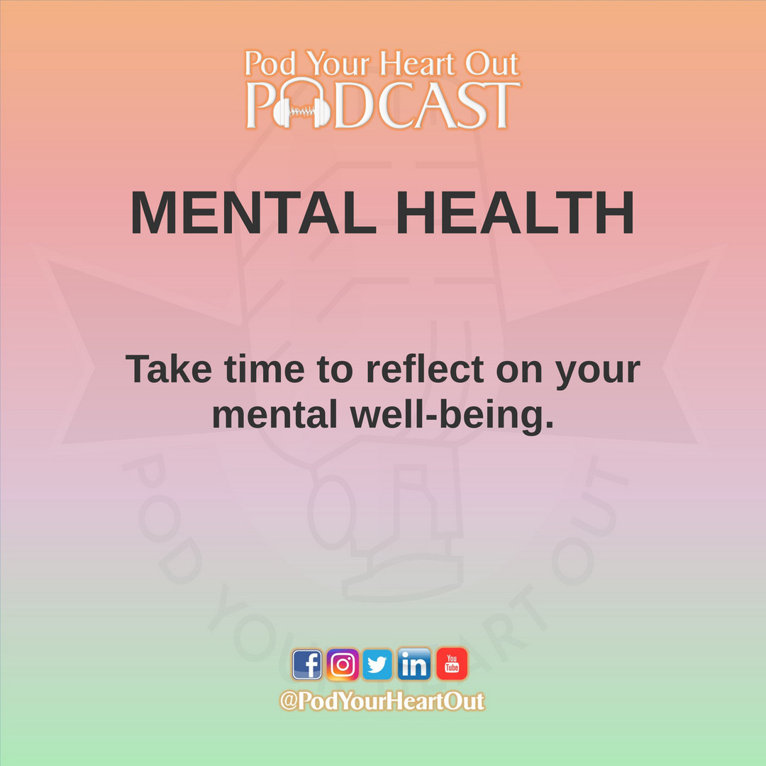 International Men's Health Week Starts TODAY!  Day 1 Reminder: Take note of that's taking a toll on your mental health. https://t.co/cDR7TTYWmu