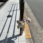 恐竜のぬいぐるみリュックの落とし物?!大阪市内玉造筋で探している方いらっしゃいませんか?