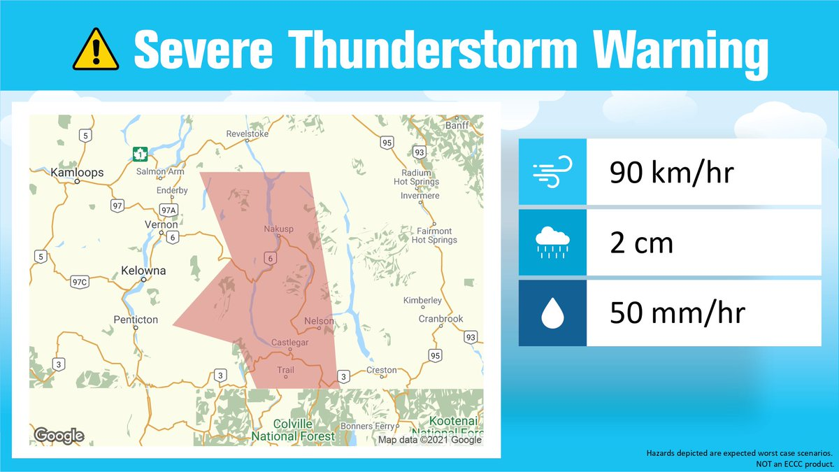 Severe Thunderstorm Warning updated for Interior And Northern British Columbia by Environment Canada at 11:58 PM PDT https://t.co/YQgA19PUP4