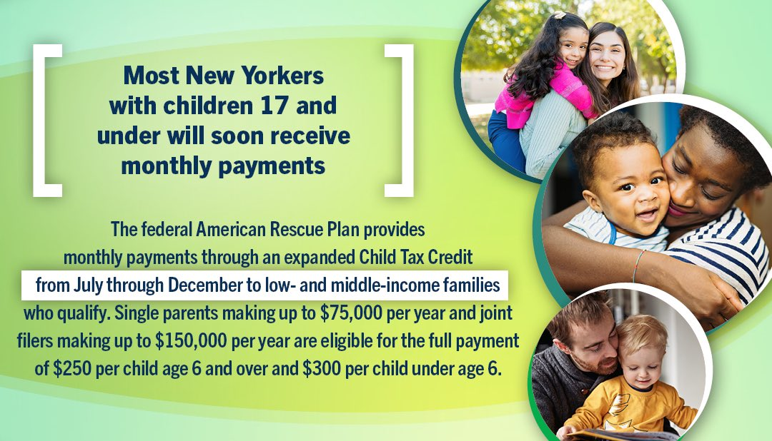 The American Rescue Plan provides monthly payments through an expanded Child Tax Credit from July through December of 2021.  For the 2021 changes, please visit the link below for more information.  #ChildTaxCredit #AmericanRescuePlan #IRS   https://t.co/QgQiQ2HRT8 https://t.co/zsFXpuPuad