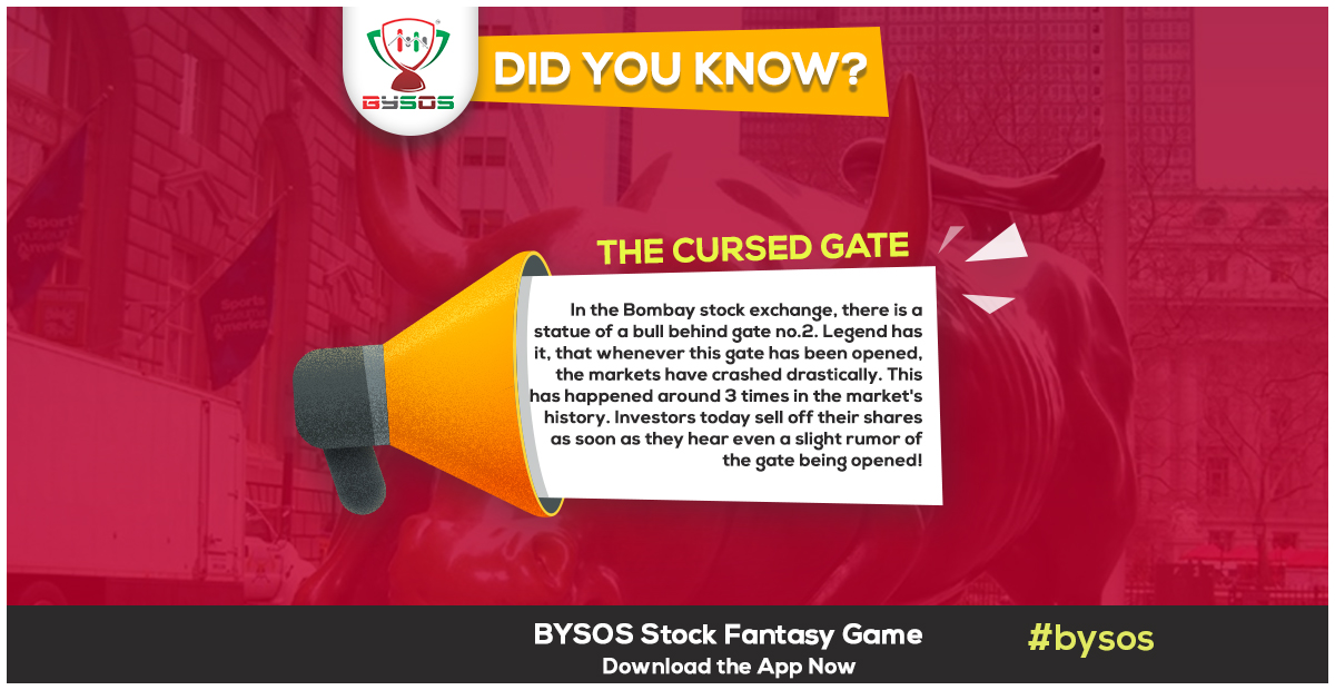 People in the market have this superstition that whenever that gate is opened, the markets crash. The door was first opened in 1992, and the famous Harshad Mehta scam happened soon after it. #bysos #stockseeko #paisajeeto #stocks #intraday #opening bell #closingbell #money https://t.co/OPN9hJ6A7j