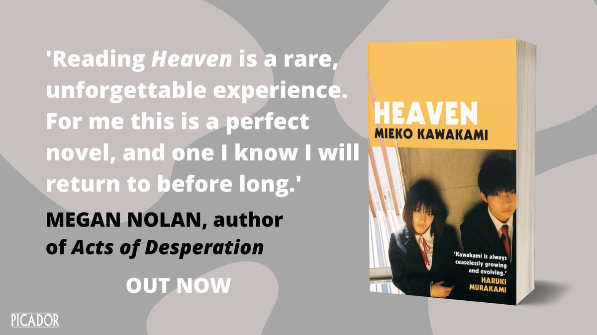 From the bestselling author of Breasts and Eggs and international literary sensation @mieko_kawakami, comes HEAVEN, a beautiful and devastatingly brutal novel about adolescence violence and the nature of friendship.   ⛅️OUT NOW https://t.co/pWewRK8wn3 https://t.co/QCce0wAQEZ