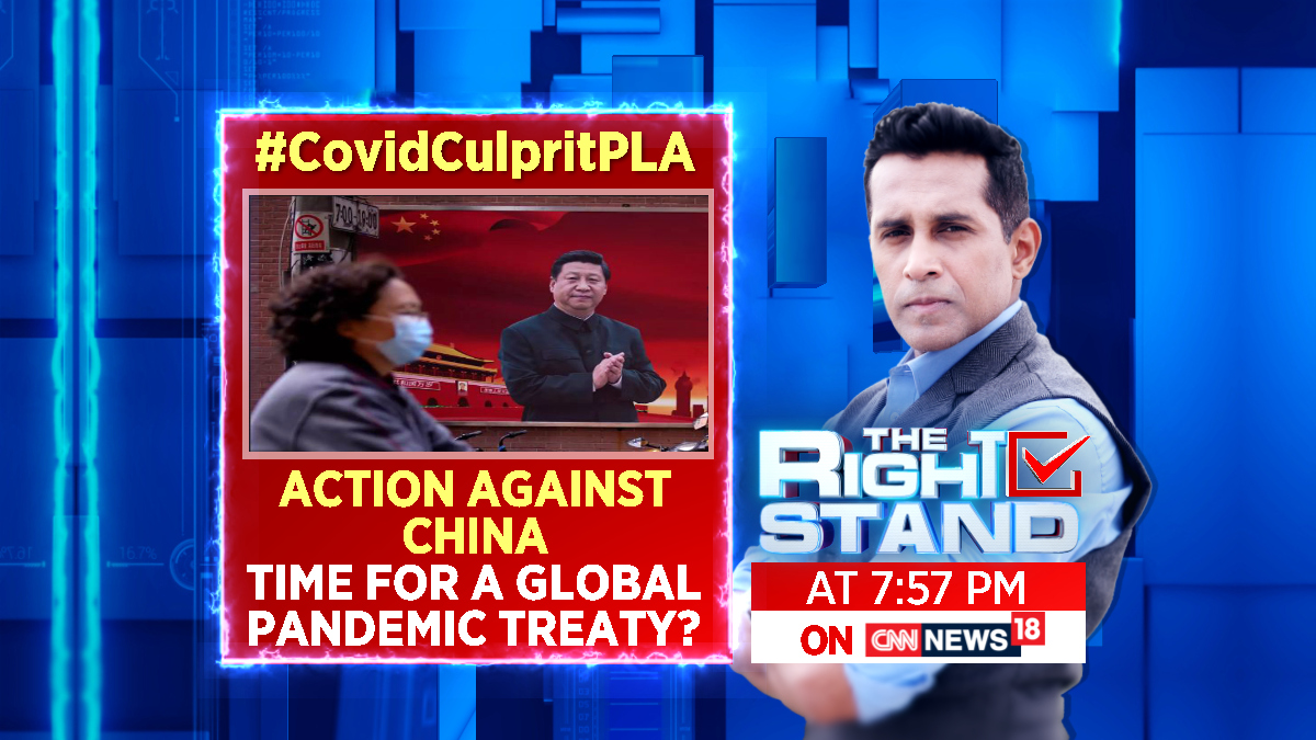 #CovidCulpritPLA | Action against China: time for a global pandemic treaty?  Watch #TheRightStand with @AnchorAnandN at 7:57 PM only on CNN-News18. https://t.co/G6dv5v5Lss