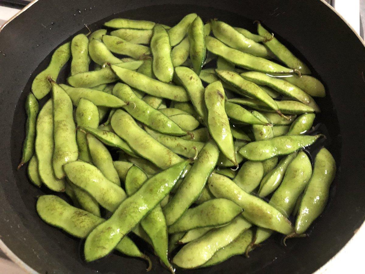 枝豆好きな方に朗報!濃ゆい枝豆感を感じるには蒸し焼きがおすすめ!