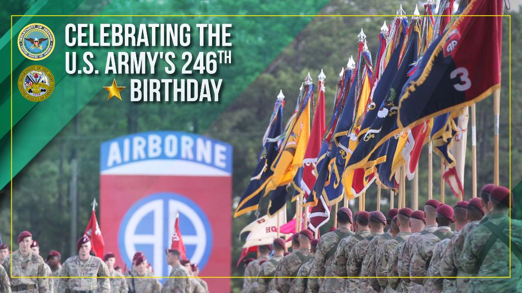 Another year older, but still 'Army strong.' Happy 246th to the @USArmy!#ArmyBday https://t.co/JNidWbP1Uz
