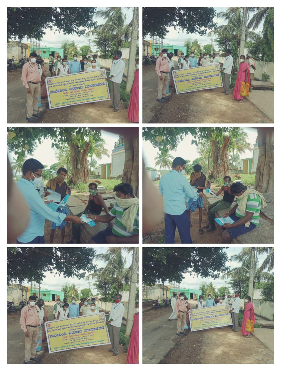 In ``Malaria viodhi Masacharane`` prog. madhugiri taluk THO, BHEO & staff visited villages & given health education on malaria diseases. https://t.co/HlaX6EzCkh