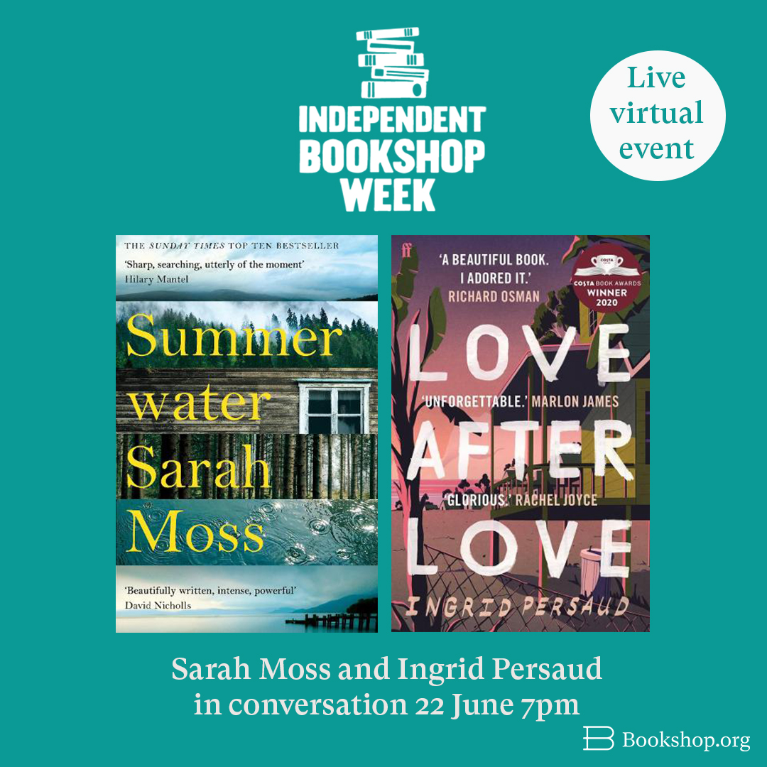 We are so excited to present two live virtual events to celebrate Independent Bookshop Week, 19-26 June.  Acclaimed authors Sarah Moss and @IngridPersaud, and @lemnsissay and @gracedent will take the virtual stage in support of indie bookshops 📚  https://t.co/RQdV59orhD https://t.co/r8oBiZLltI