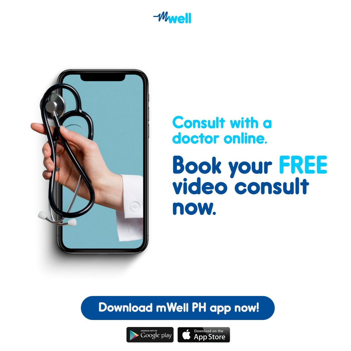 These days, it doesn't hurt to be sure. Have your health checked by a doctor for your peace of mind.  Book your FREE* video consult, download the mWell PH app today for expert health and wellness advice anytime, anywhere.   *Doctors with 0.00 fees on the app are free of charge https://t.co/wq7zEzdnRR
