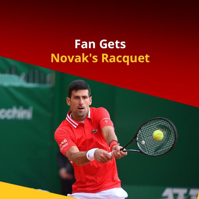 Novak Djokovic Gifts Winning Racquet to Young Fan  #newsmo #novak #frenchopen #wimbledon #novakdjokovic #grandslam #tennis #Vertical https://t.co/hbLwTd7H66