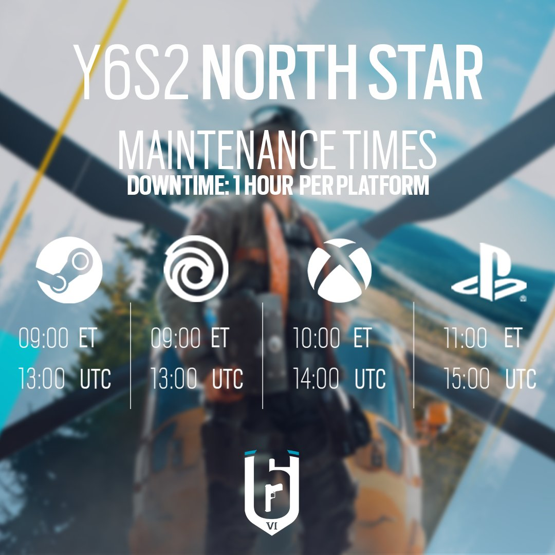 🛠Y6S2 Maintenance🛠  The Y6S2 North Star patch will be deployed today, June 14th for all platforms.  Approximate downtime: 1 hour per platform  Maintenance times and patch sizes below 👇 https://t.co/u9WDY41nSN