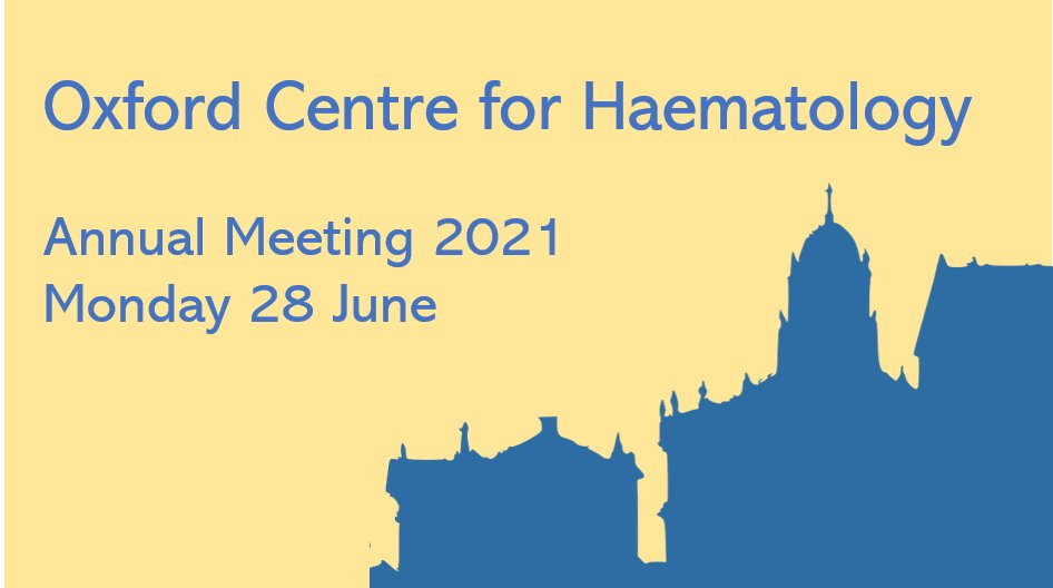 A limited number of places have been made available at short notice for the @OxfordHaem Annual Meeting Mon 28 June. Open to staff @UniofOxford and @OUHospitals, please make sure to register before 5pm Fri 25 June 👉https://t.co/nhV9me9fee