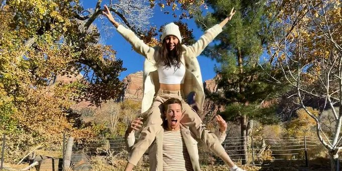 Shaun White Recreated His First Date with Nina Dobrev for One Year Anniversary Photo