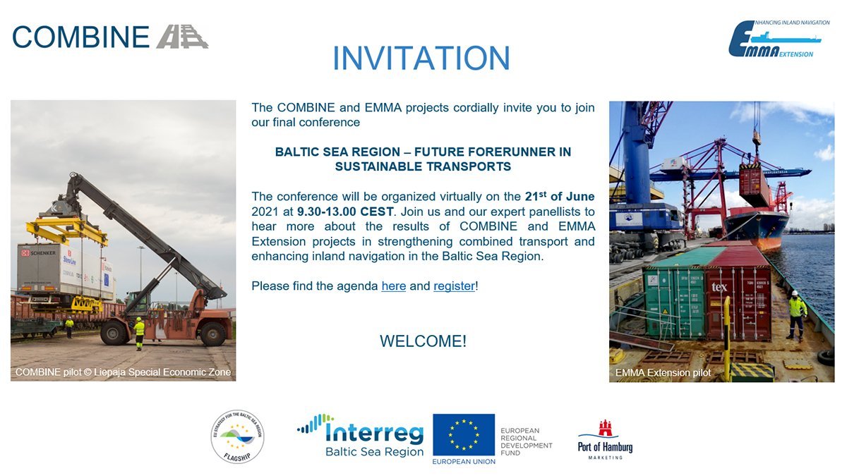 Are you interested to learn how #MadeWithInterreg solutions help advance #sustainable #transport in the #BalticSeaRegion? Join an event run by two projects @project_emma & @CombineProject to find out!