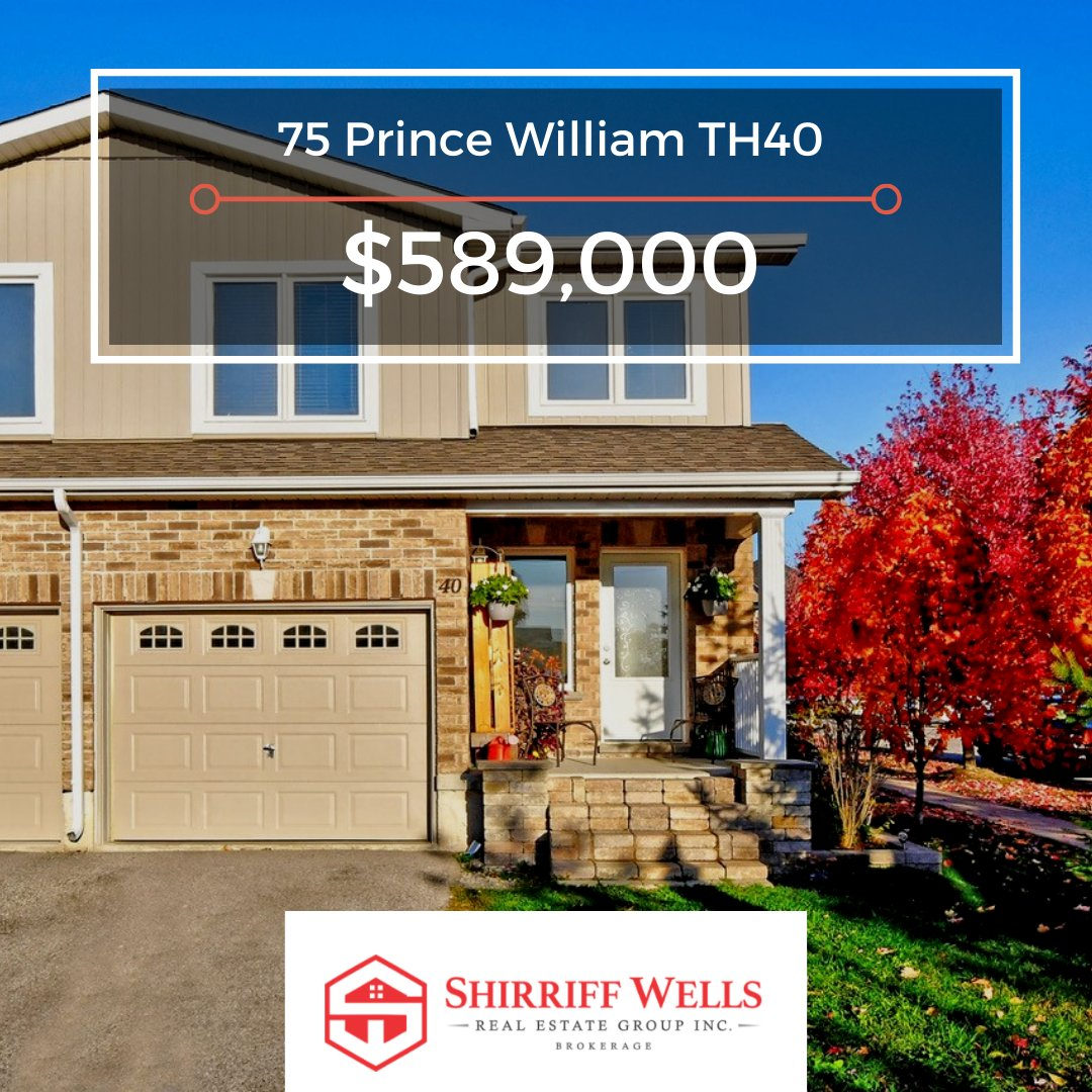 Enjoy convenience & easy living in this beautiful family #townhouse. 3-bed, 2-baths, a large kitchen & spacious balcony that's perfect for entertaining! Explore the best that #Barrie has to offer & make it your home today! #ShirriffWellsRealEstate  . https://t.co/l0JDdaHNAd https://t.co/oDxeTS9eRO