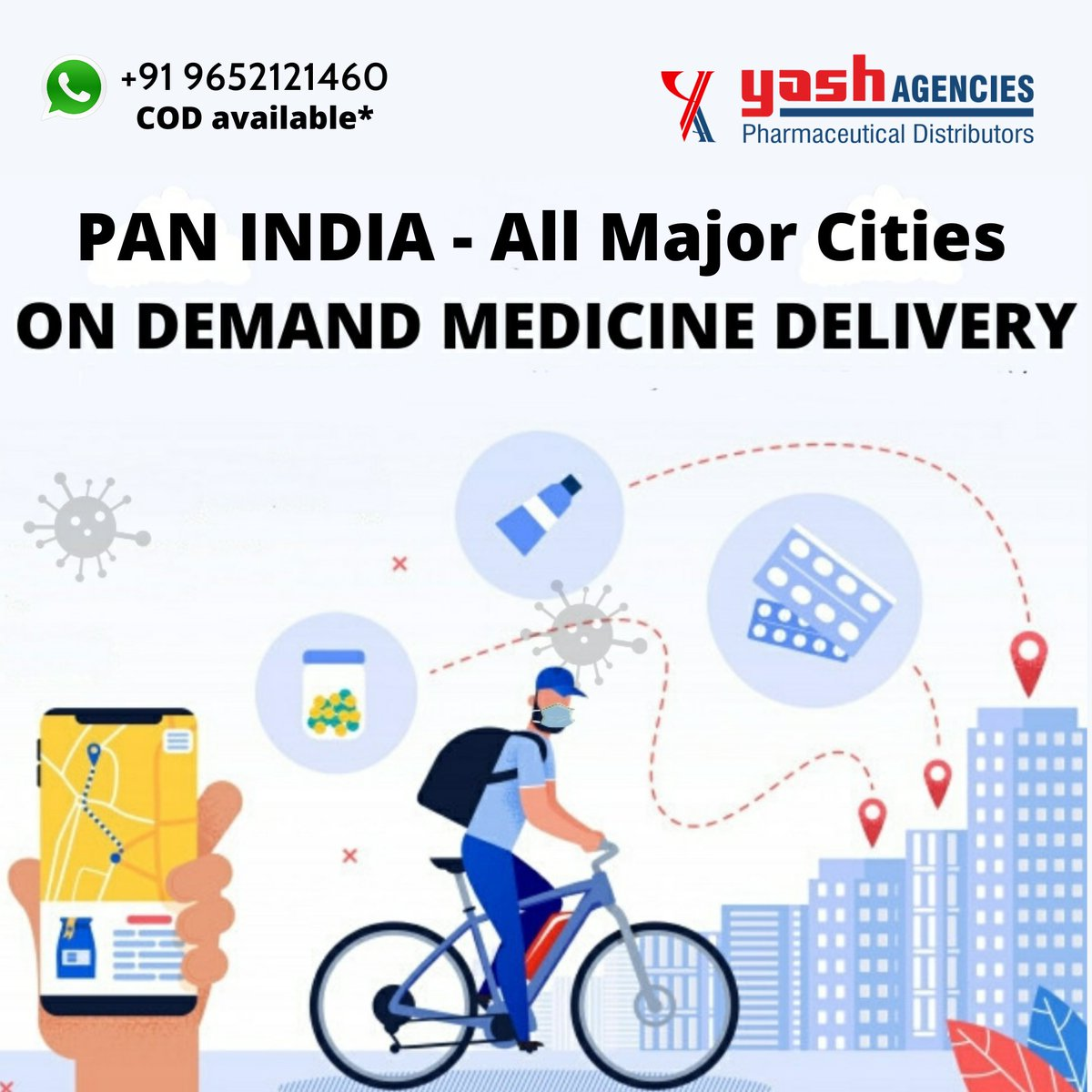 Let's together beat our geographic limitations. Delivering PAN India now!  We are all in this together 🇮🇳  #India #COVID19India #medicine #delivery #COVID19 #Hyderabad #CovidSos #emergencymedicine #CovidResources #Indian #sosIndia https://t.co/joqoDMgDmU
