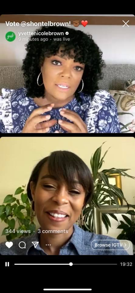 In case you missed our LIVE this afternoon on IG. Thank you @YNB - Yvette Nicole Brown for your time and belief in me and this campaign. Truly thankful.  https://t.co/vyGNvhtS41 https://t.co/7SegYqw6SN