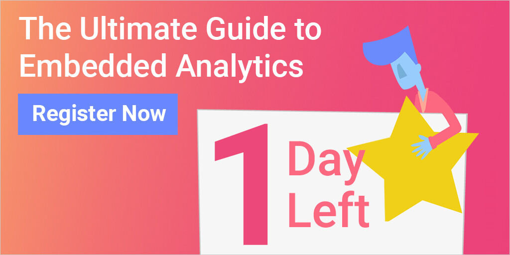 📢 Don't miss the opportunity to sign up for our FREE #webinar tomorrow! 📢 We start right at 𝟏𝟏:𝟎𝟎 𝐀𝐌 𝐄𝐒𝐓. 📍All you need to know about #embedded #analytics!  #data #free #webinar https://t.co/G2cLCUGIa5