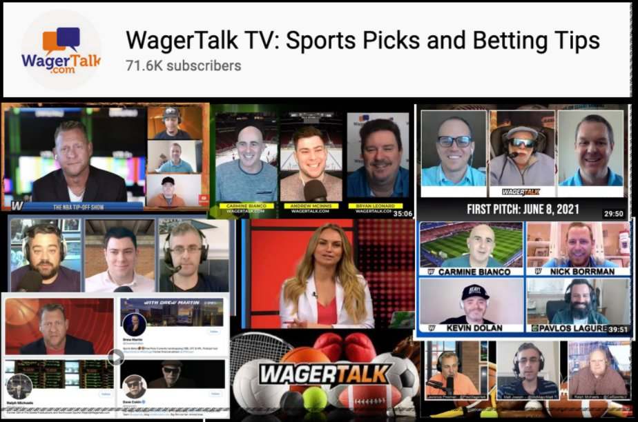 Monday's WagerTalk TV schedule: 🏒11am ET / 8am PT - PuckTime ☕12pm ET - WagerTalk Today ⚾1:45pm ET - MLB First Pitch 🏀3pm ET - NBA Tip-Off ...Plus some #EURO2020 free plays and an early Heisman NCAAF look. 📺YouTube: https://t.co/R6HAcE68lq 📺Twitch: https://t.co/FJVMFlJPBK https://t.co/aXkVcVN8ov