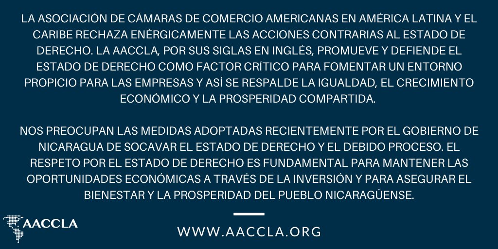 test Twitter Media - AACCLA Statement on #Nicaragua https://t.co/eixwaWIhfq